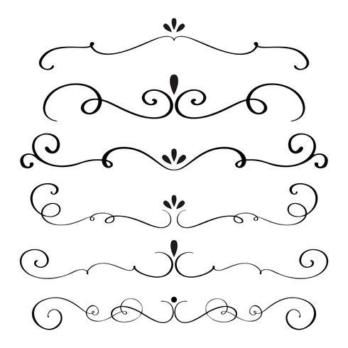 de kunstkalligrafie bloeit van vintage decoratieve whorls voor ontwerp. vectorillustratie EPS