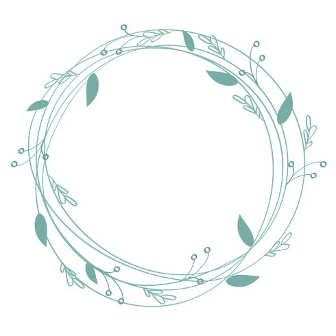 blomstra kalligrafi vintage semester ram och plats för text. Illustration vektor handritad EPS 10