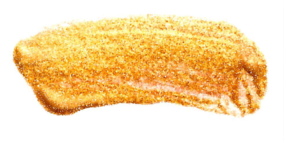 Vektor guldfärg smörj stroke fläck set. Abstrakt guldglittrande texturerad konstillustration