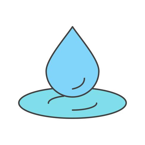 icona di vettore goccia d'acqua