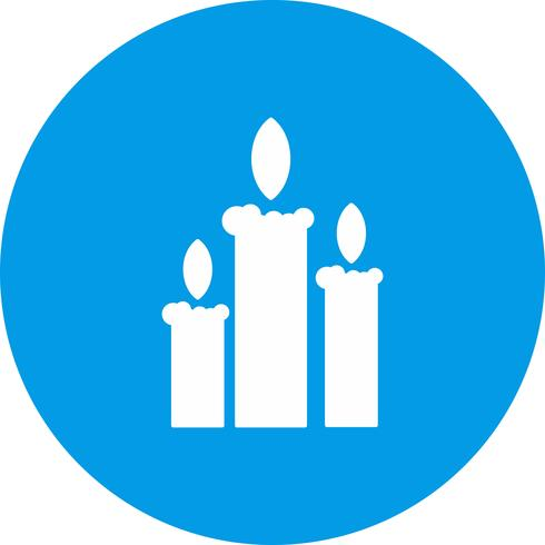 icono de velas vectoriales vector