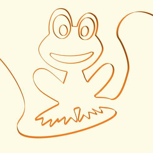 Kunstfrosch-Tierillustration der Linie 3D, Vektorillustration vektor