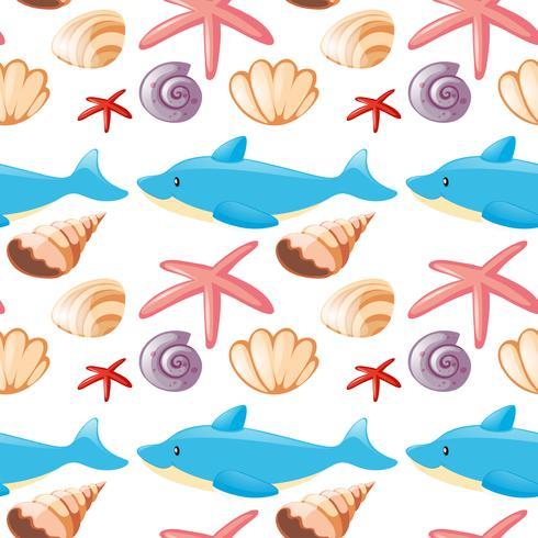 Diseño de fondo transparente con animales marinos