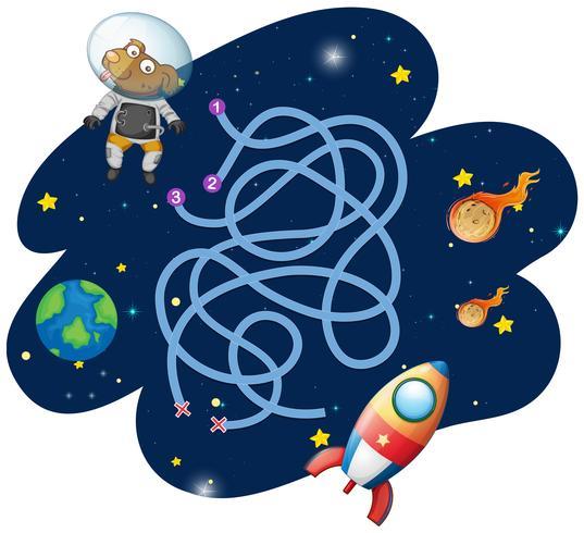 Hund Astronaut Spielvorlage