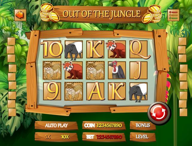 Modello di gioco animale giungla