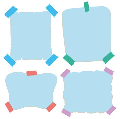 Paper templates in blue color