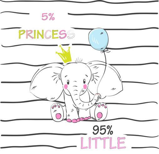 cute little elephant vector