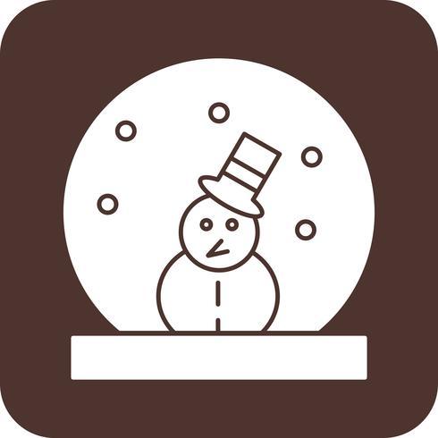 icona di vettore neve uomo