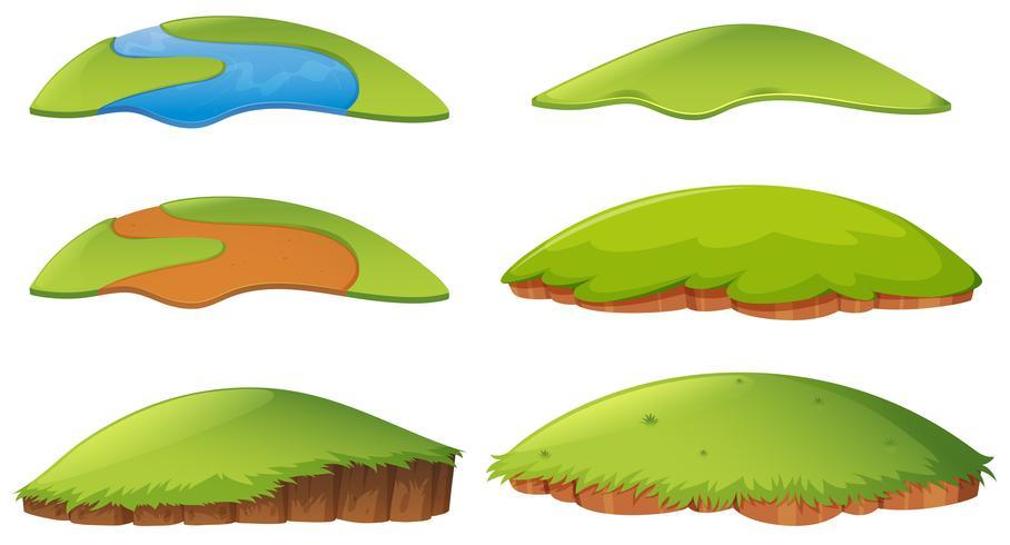 Diferentes formas de la isla