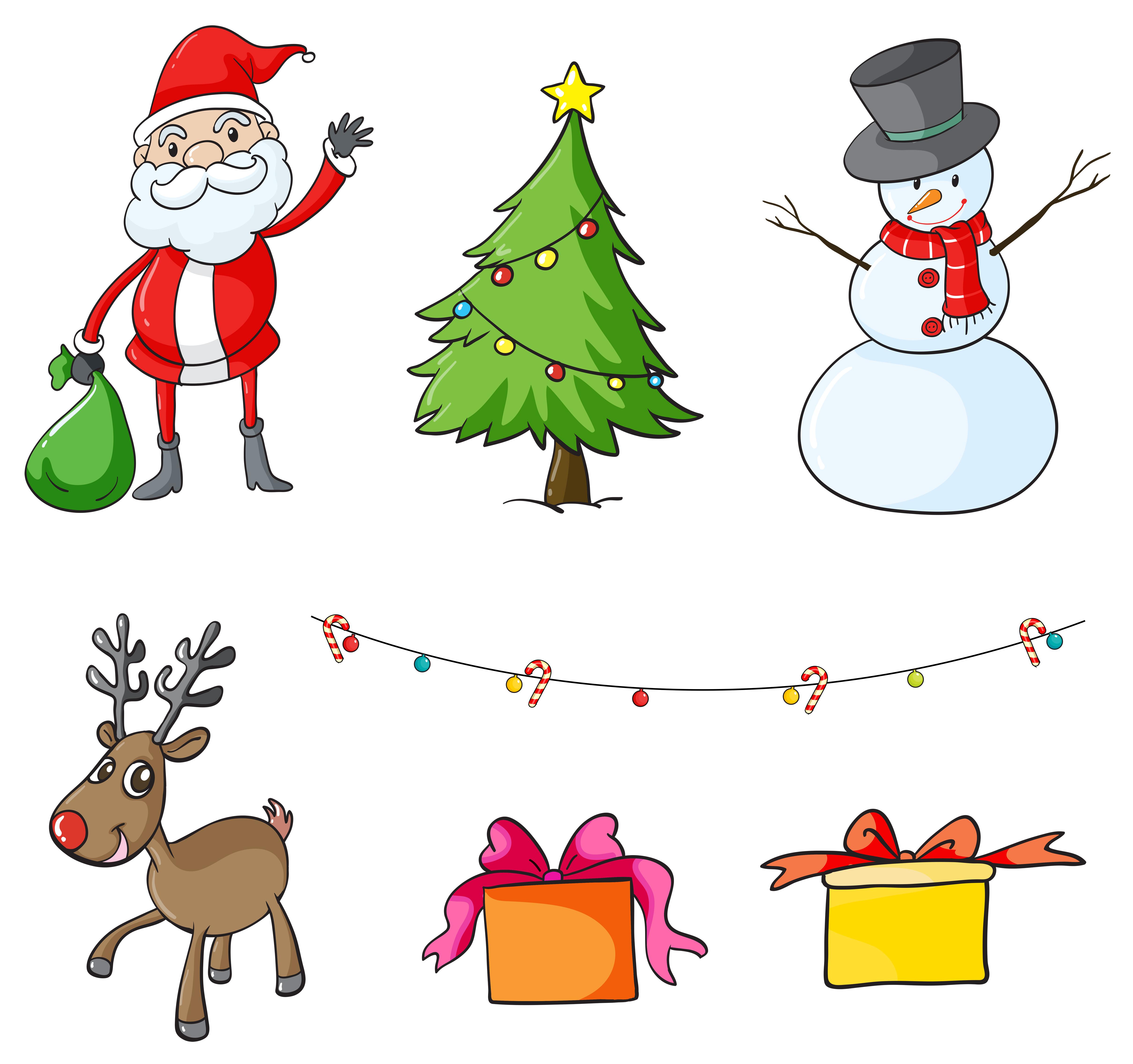 Christmas Symbols Free Vector Art - (6,669 Free Downloads)