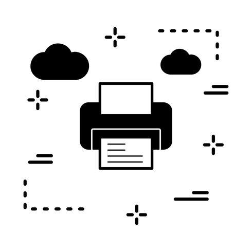 icona della stampante vettoriale