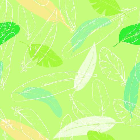 modello senza cuciture con piume di corvo. colore pastello vettore
