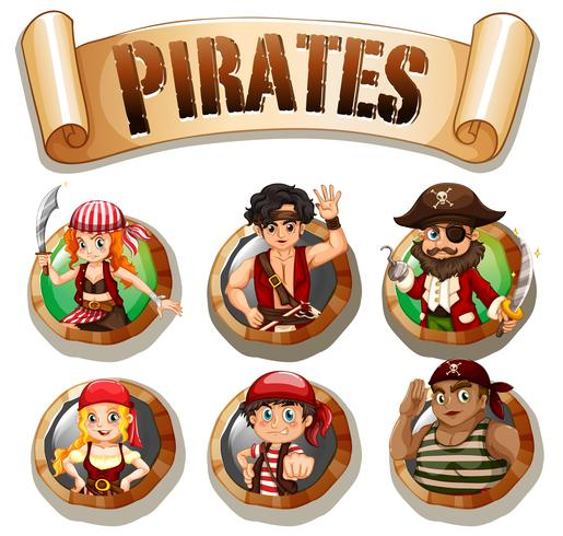 Pirater på runda märken