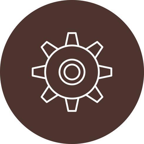 Icona dell'ingranaggio di vettore