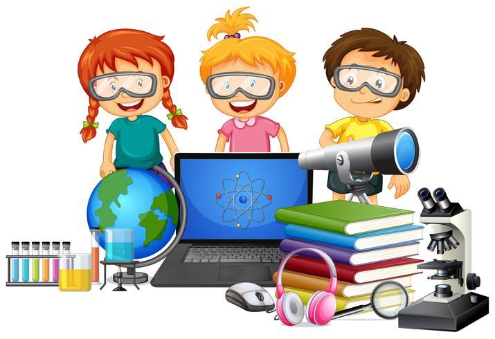 Student mit schule element