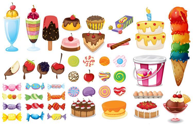 Collezione di dessert