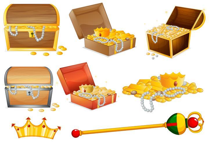 Casse di tradimento e oggetti d'oro