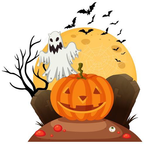 Una plantilla de halloween espeluznante