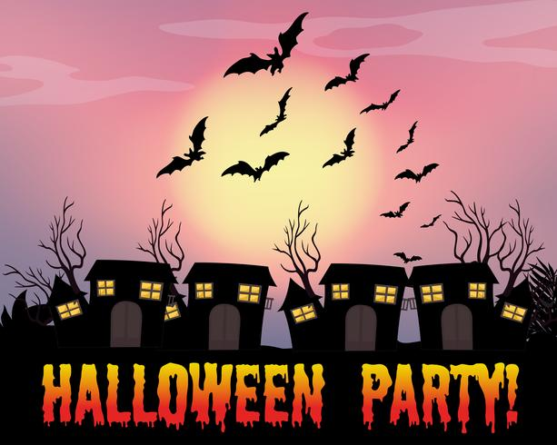 Plakat der Halloween-Party