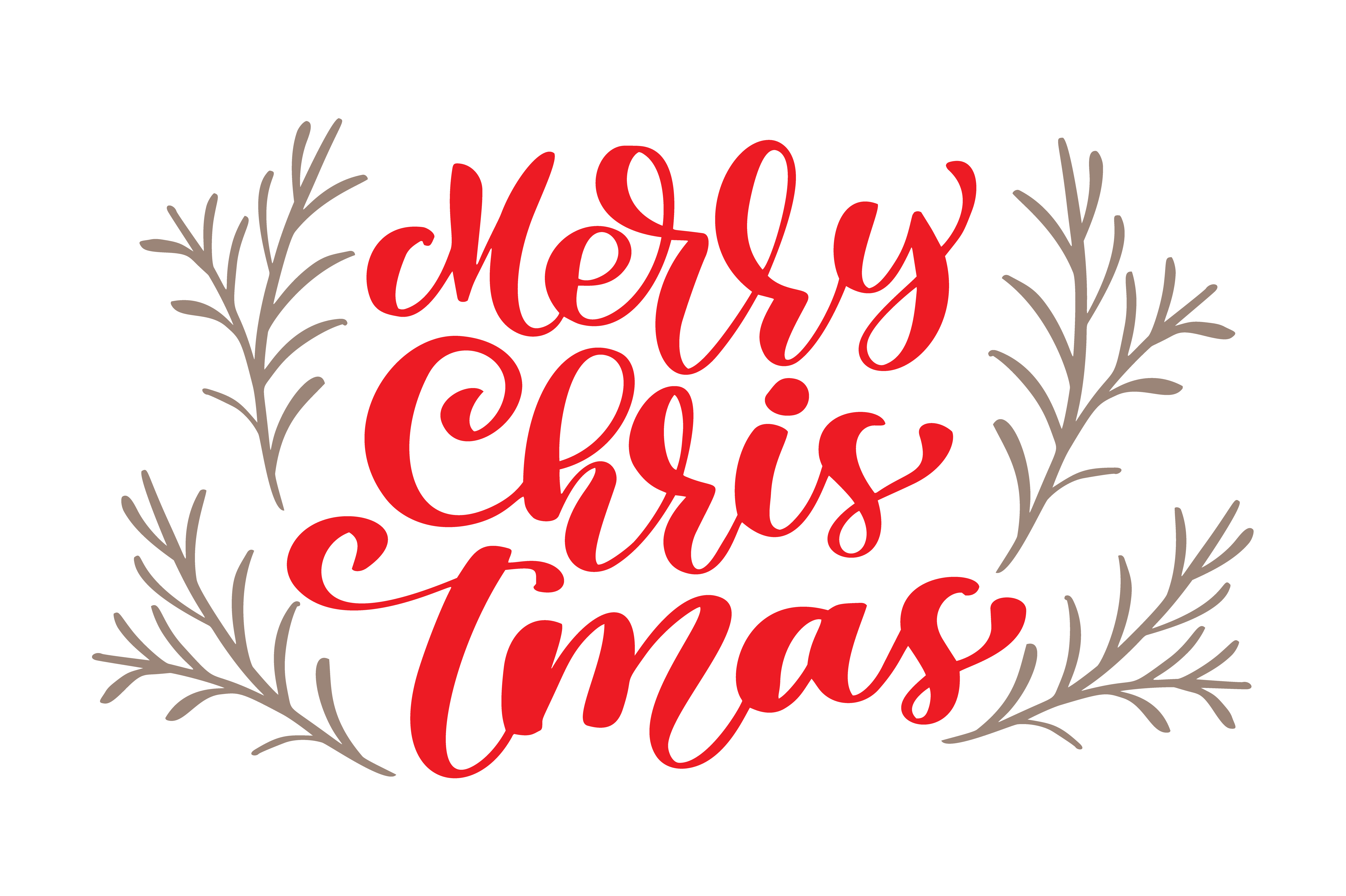 text merry christmas hand written calligraphy lettering