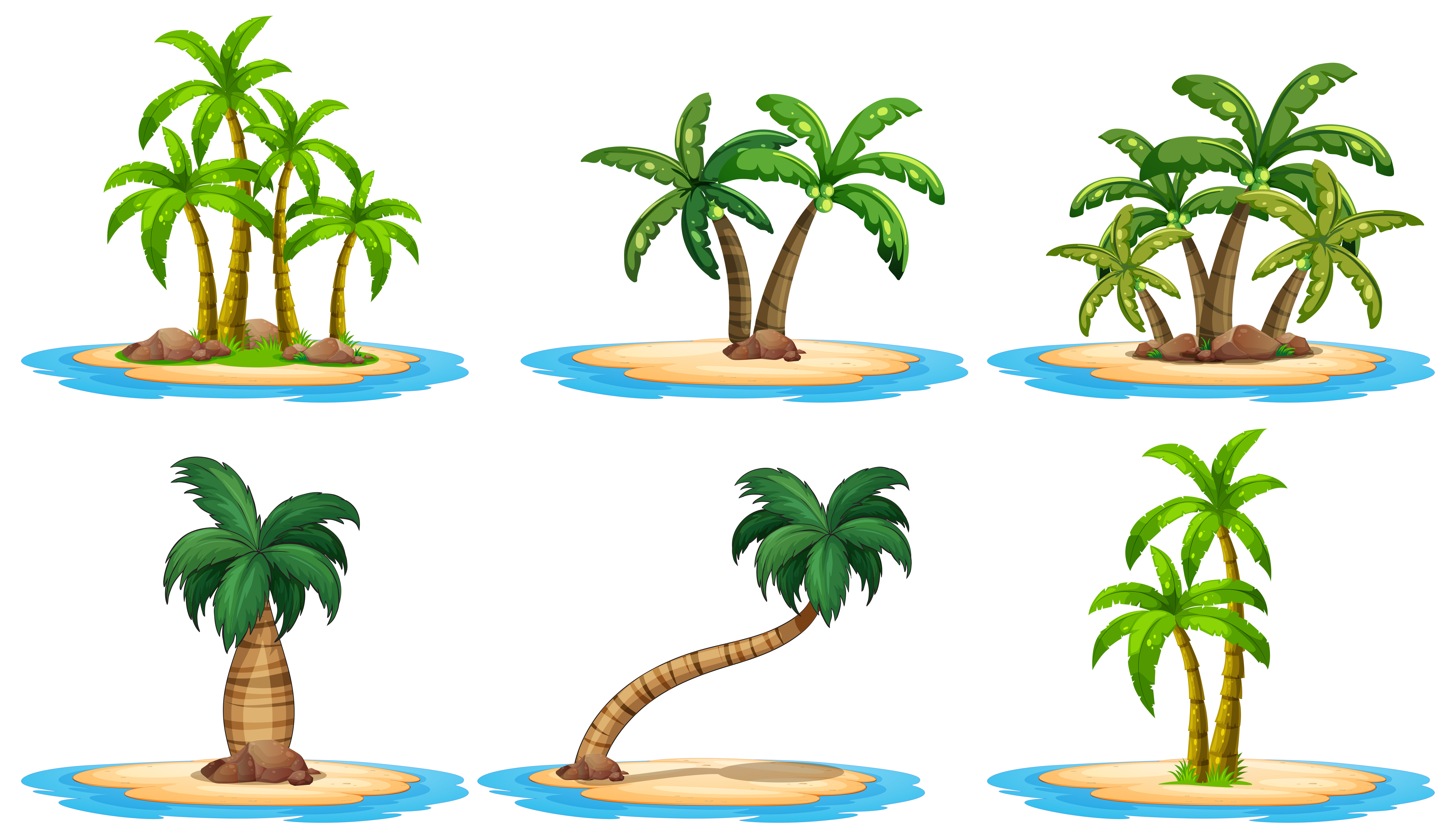 Islands and palm tree - Download Free Vectors, Clipart ...