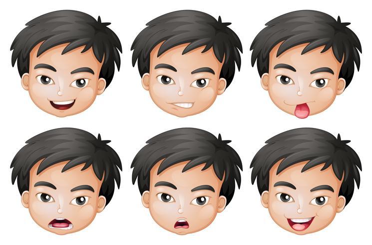 Gesichter eines Jungen