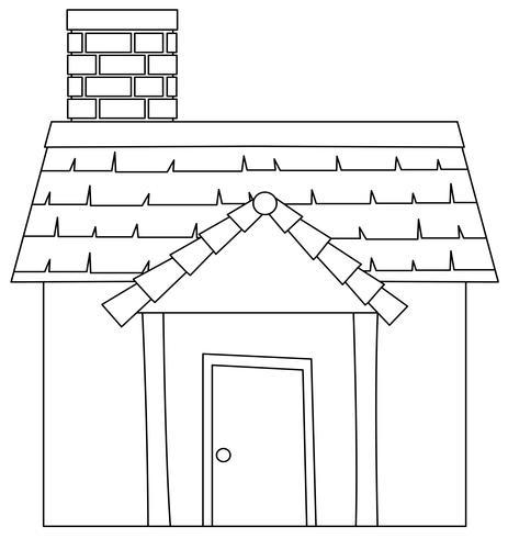 Eine moderne Hausskizze