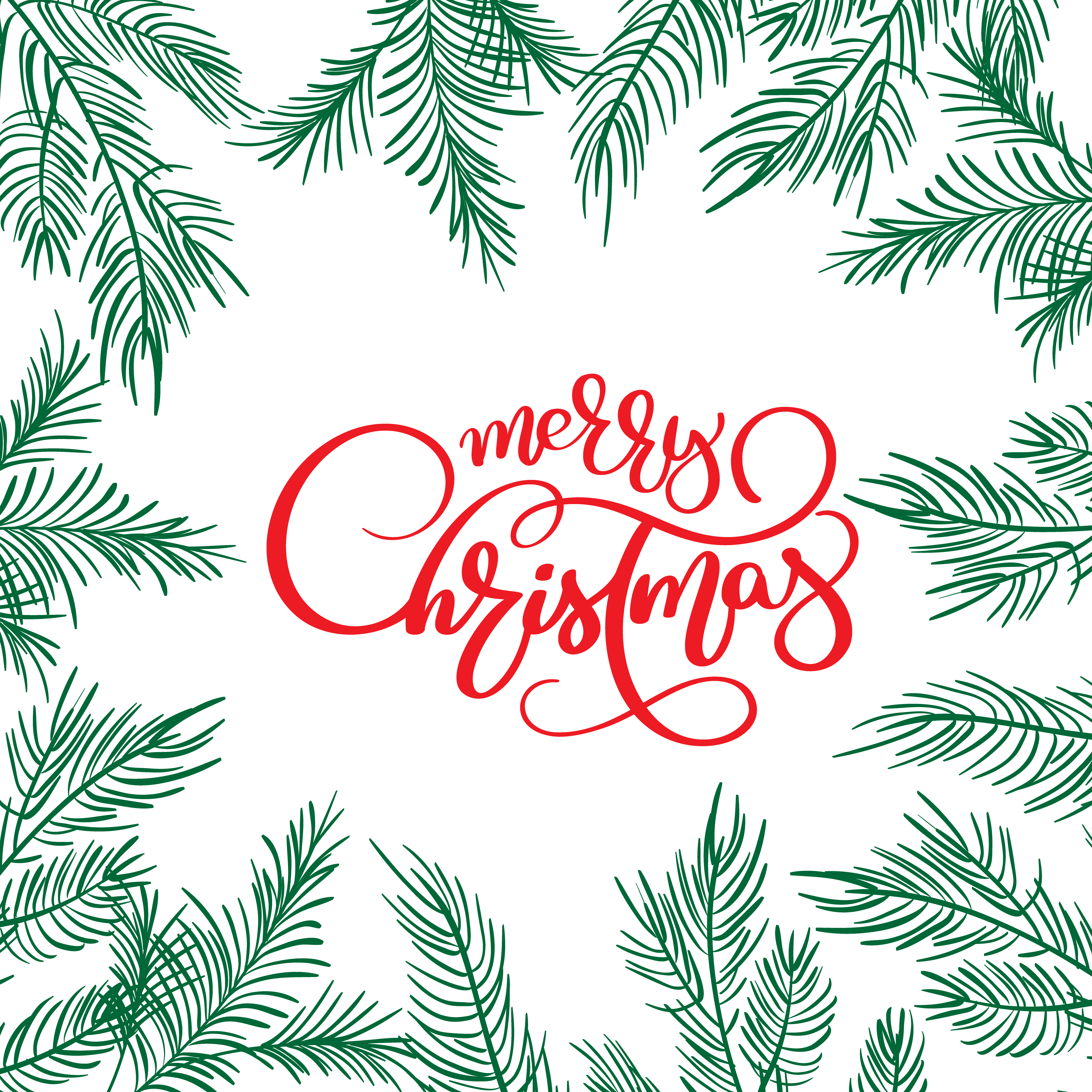 Merry Christmas Illustration: Merry Christmas Calligraphy Lettering Text And And Frame