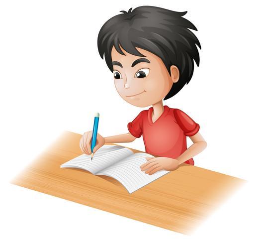 A boy sketching