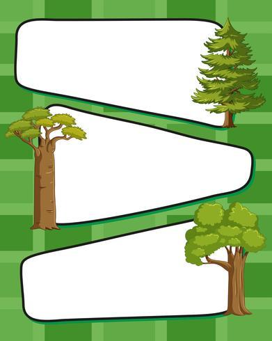 Papiersjabloon met groene bomen
