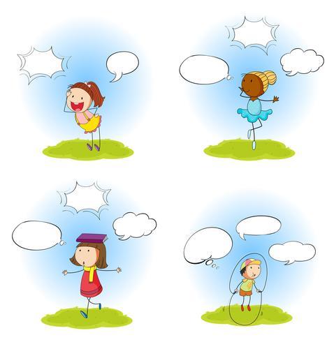 Satz des Kindes mit Sprechblase