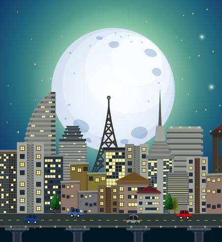 Une vue de nuit urbaine