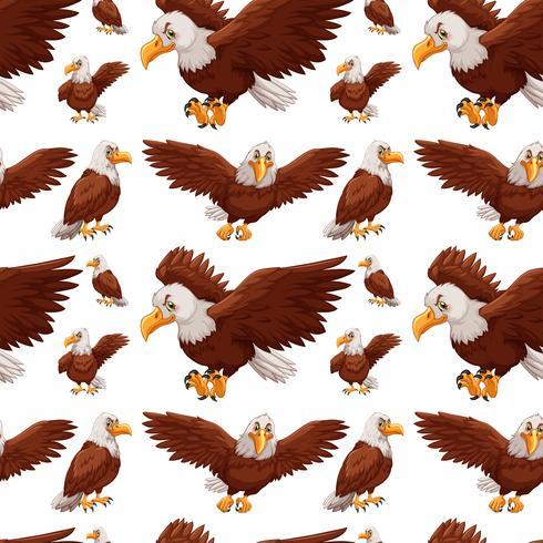 Naadloze achtergrond met adelaars vliegen