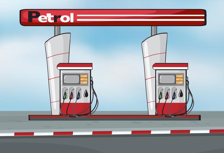 Estación de petroleo - Descargar Vectores Gratis