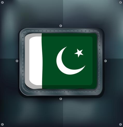 Ícone do design para a bandeira do Paquistão