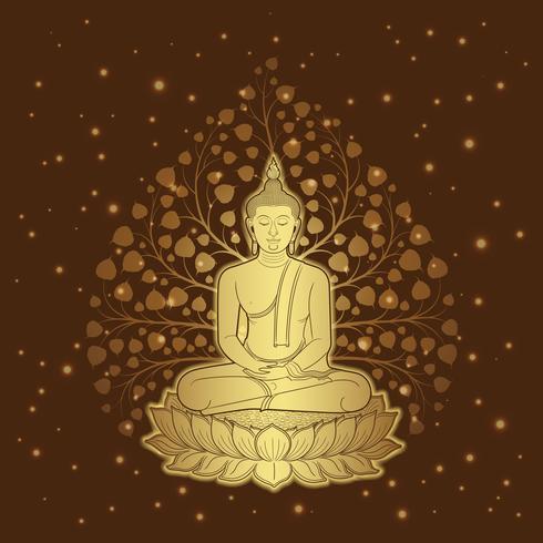 Templo de lujo de budismo de arte tailandés y patrón de fondo