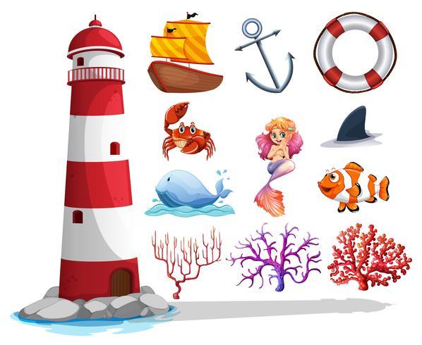 Phare et autres choses de l'océan
