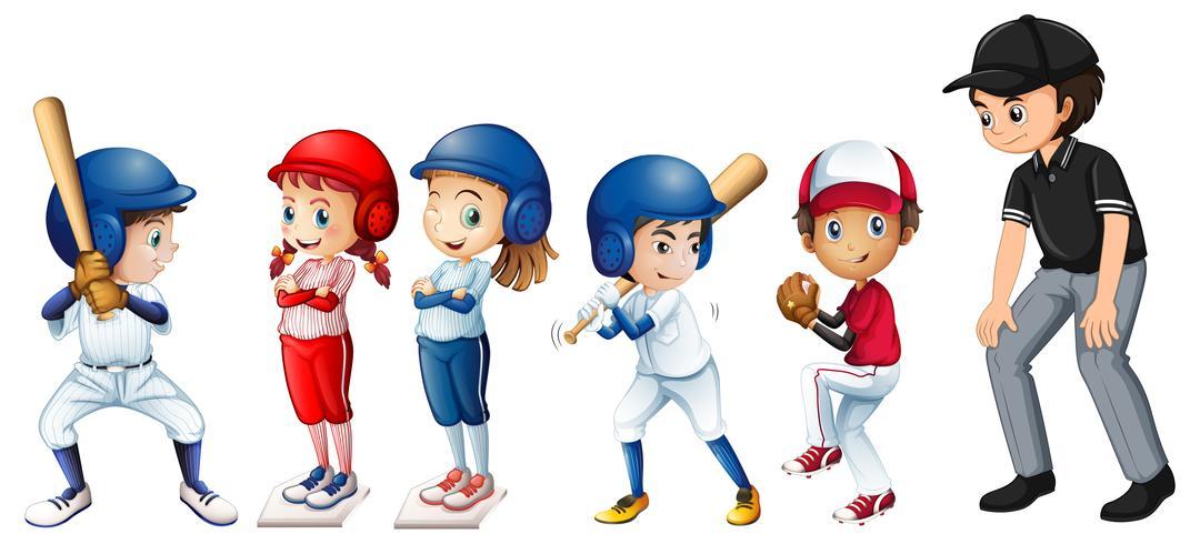 Satz von Baseballkindern