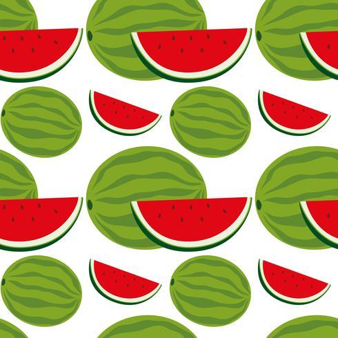 Disegno di sfondo senza soluzione di continuità con l'anguria
