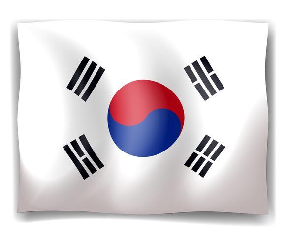 Flagga av Sydkorea