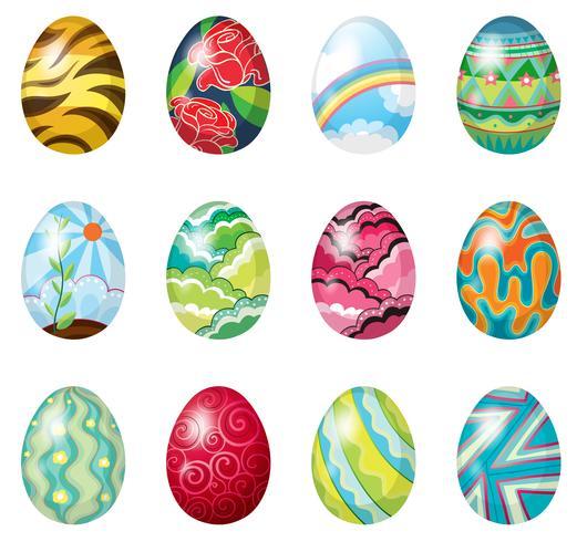 Una dozzina di uova di Pasqua colorate