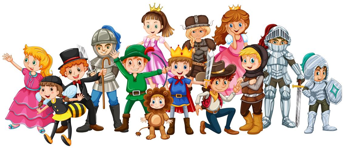 Bambini in costume da palcoscenico
