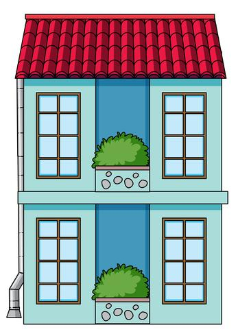 A simeple house on white background