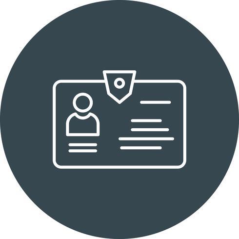 Icône d'identification de vecteur