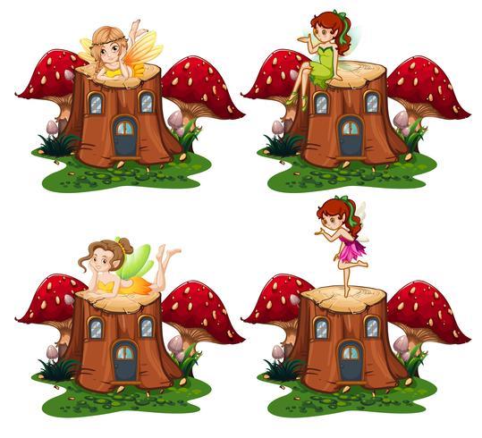 Fee Engel auf dem Holz