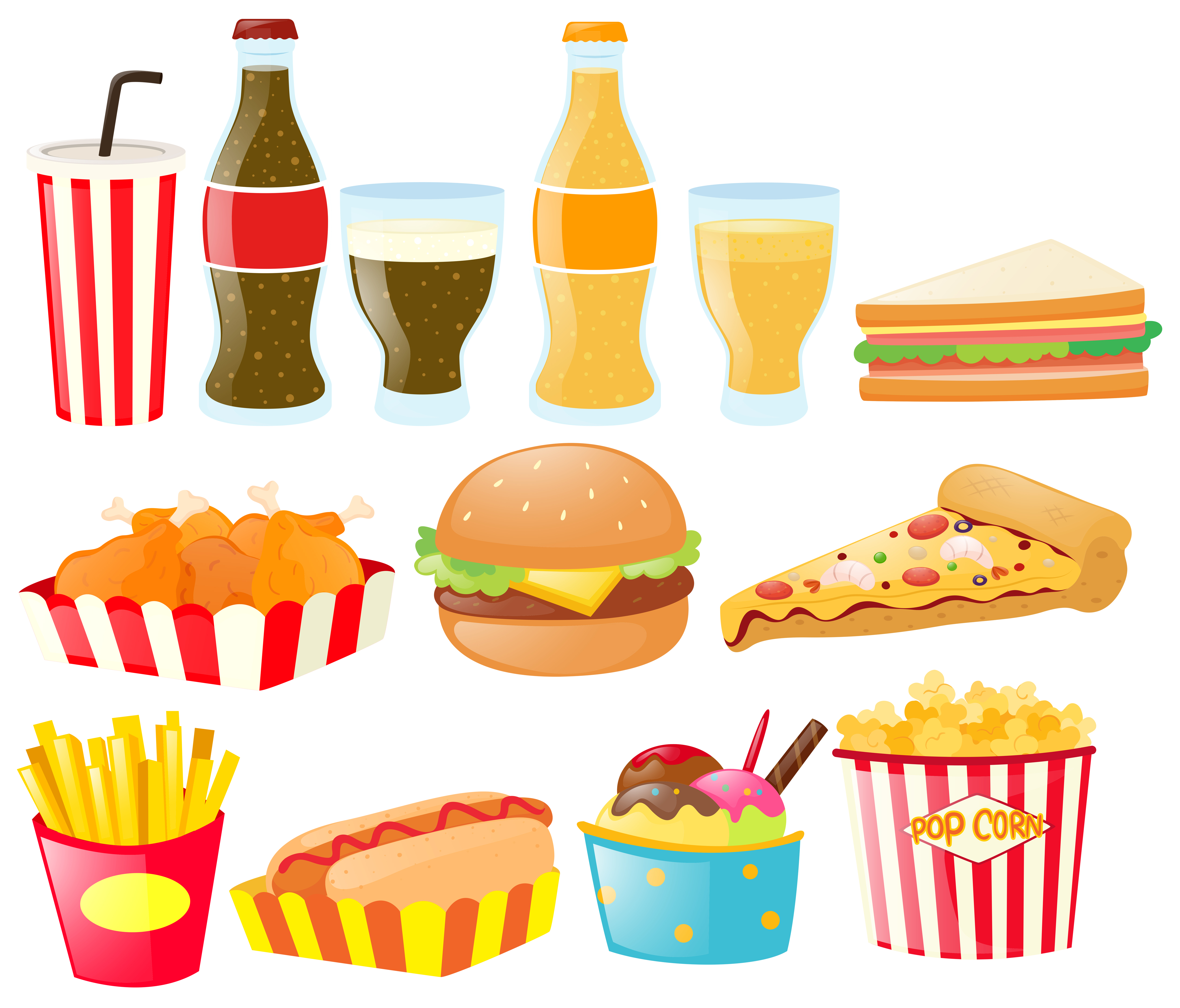 food drink different types vector fastfood clipart vecteezy graphics resources pizza vectors