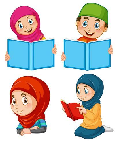 En uppsättning muslimska människor