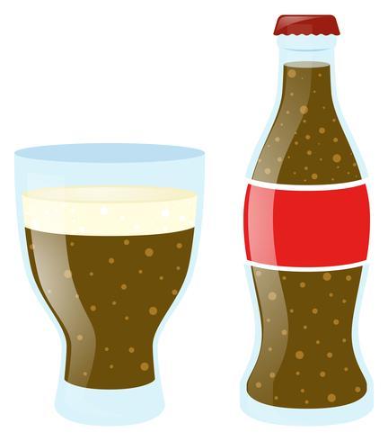 Frisdrank in glas en fles