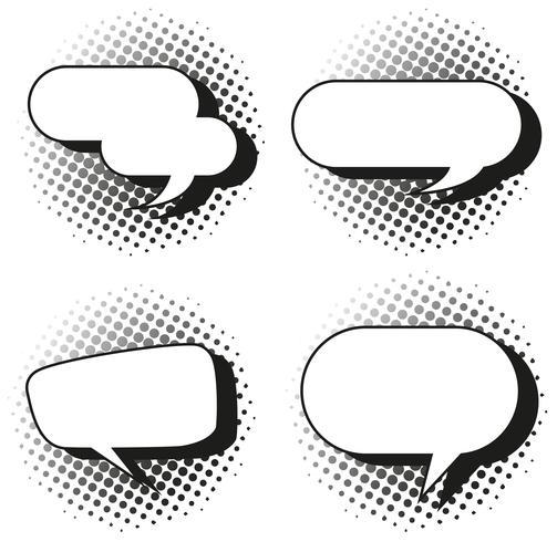 Quatro design de bolhas do discurso