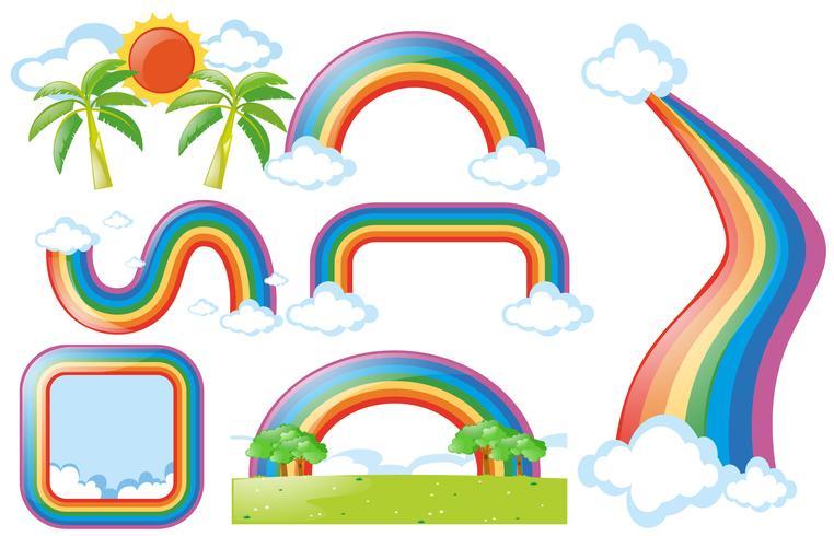 Olika design av regnbåge